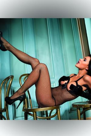Open Cup Body Stocking with Bow