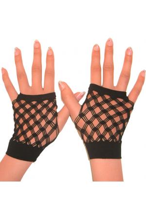 Sexy fingerless net gloves