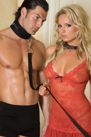 Sex Collar And Leash Set