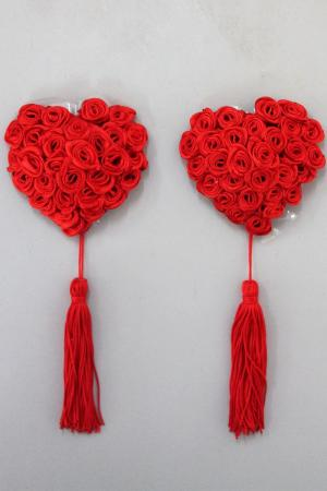 Sweetheart Rose Pasties - Red