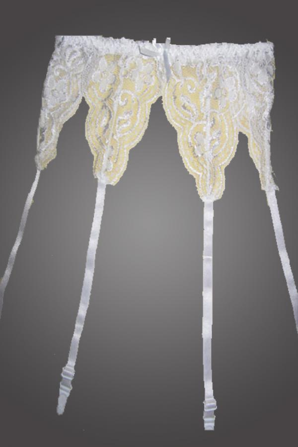 White Lace Garter Belt Set