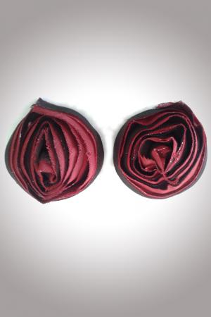 Rose Pasties - Maroon