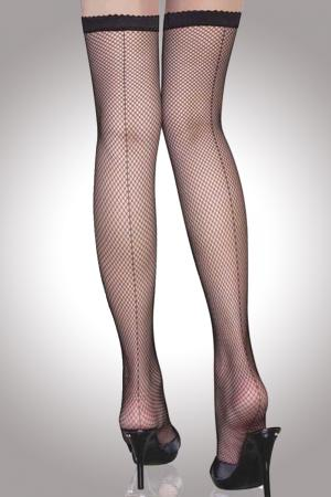Back Seam Fishnet Thigh High