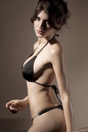 Black Fling Thong Bikini