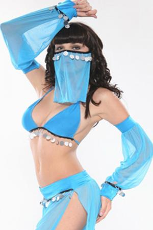 Arabian Dancer Sexy Costume - Blue