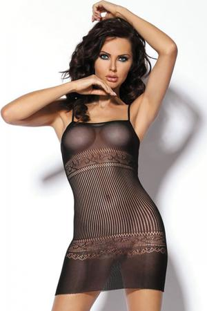 Stripped Slinky Night Dress