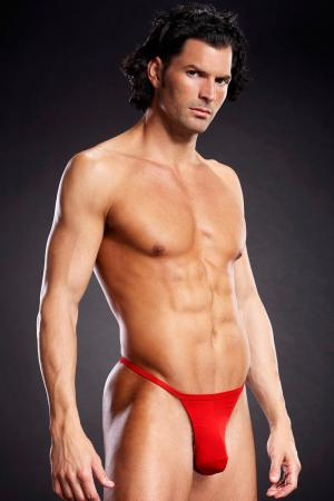 T Back Mens Thong Underwear - Red