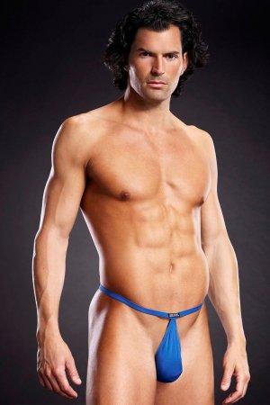 Pouch G String for Men - Blue