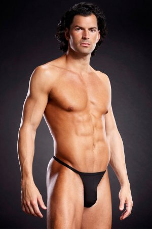 T Back Mens Underwear - Black