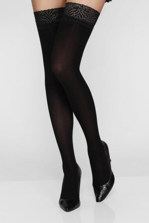 Sheer Black Stockings for Ladies