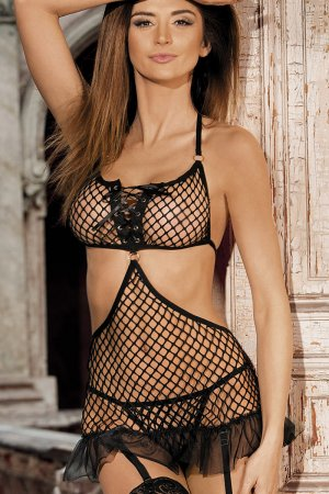 Net Cami with Attached Garters