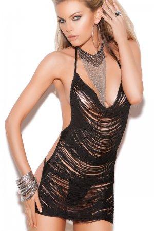 Slutty Mini Dress with Fringe