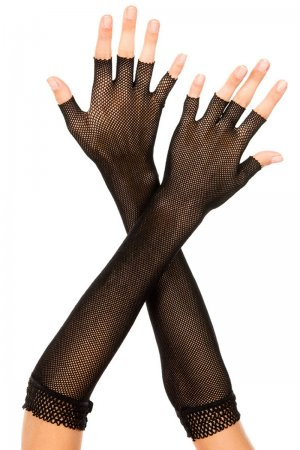 Fingerless Womens Net Gloves