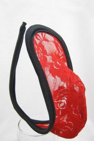 Red Sequin Embellishment C-string for men