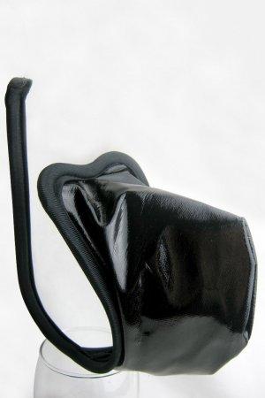 Wetlook Black C string for Men
