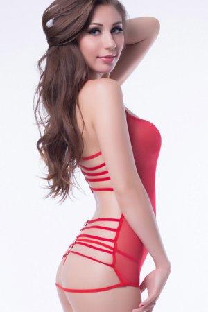 Strappy Back Mesh Babydoll - Red