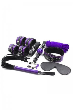 Intermediate 8 Piece Bondage Kit - Purple
