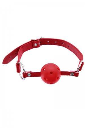 Breathable Ball mouth Gag- Red
