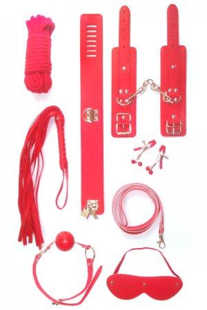 Bondage Toys - 7 Piece Red