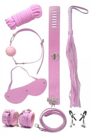 Bondage Toys Set - 7 Piece Pink