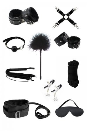 Black Sex Bondage 10pc Set