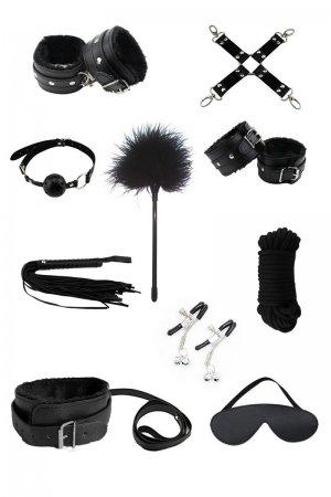 Bondage Fetish Kit - Black 10pc