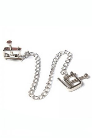 Sex toys Nipple Clamps with chain - Adjustable