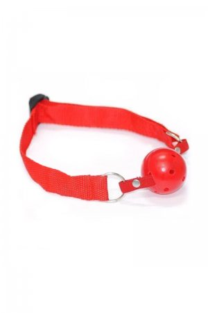 Breathable Gag ball Harness - Red
