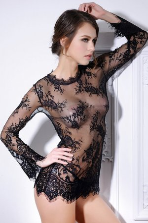 Sexy Black Transparent Night Dress