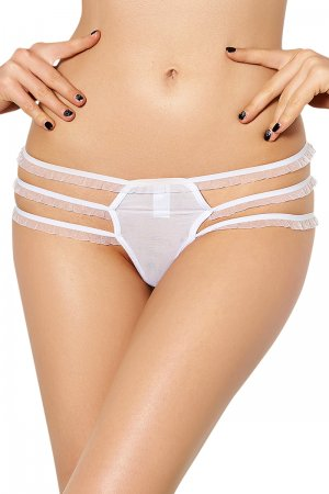 White Strappy Lace Cutout Sexy Panty