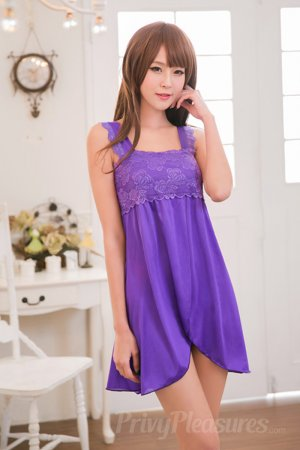 Purple Lace Nighty for Honeymoon