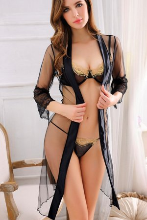 Sheer Robe and Lace Bra Panty Full Set