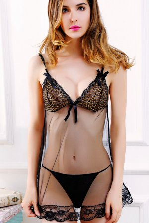 Leopard Transparent Nighty