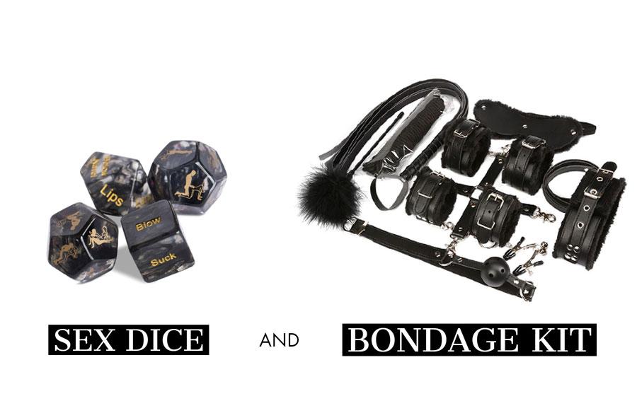Sex Dice and Bondage Kit