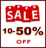 10 - 50% OFF Sale